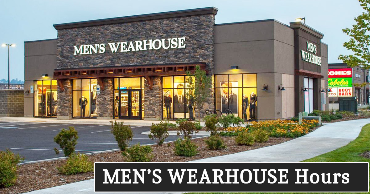 Mens Wearhouse Hours