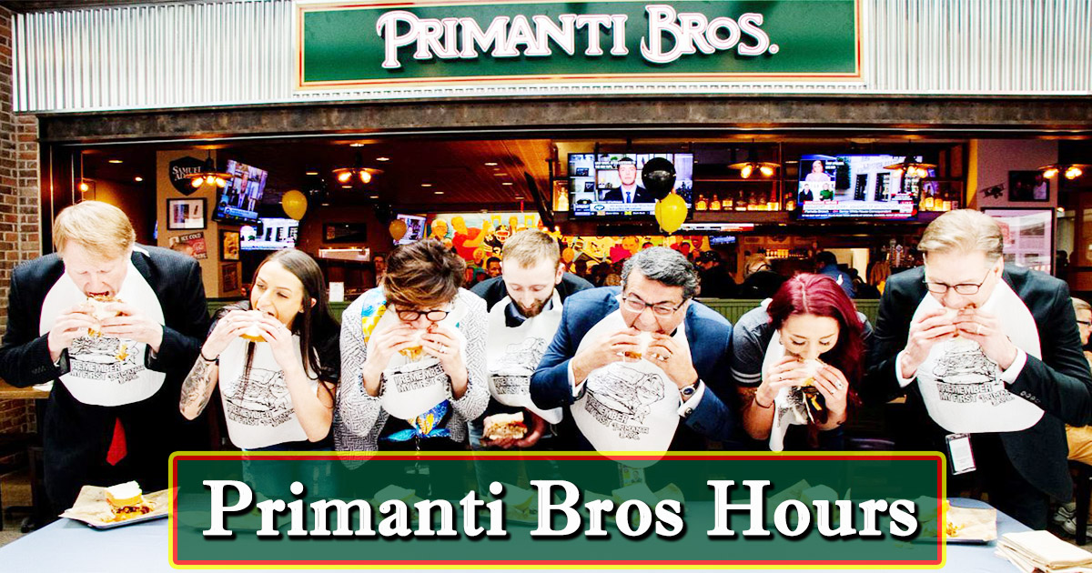 primanti bros hours