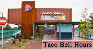 taco bell hours