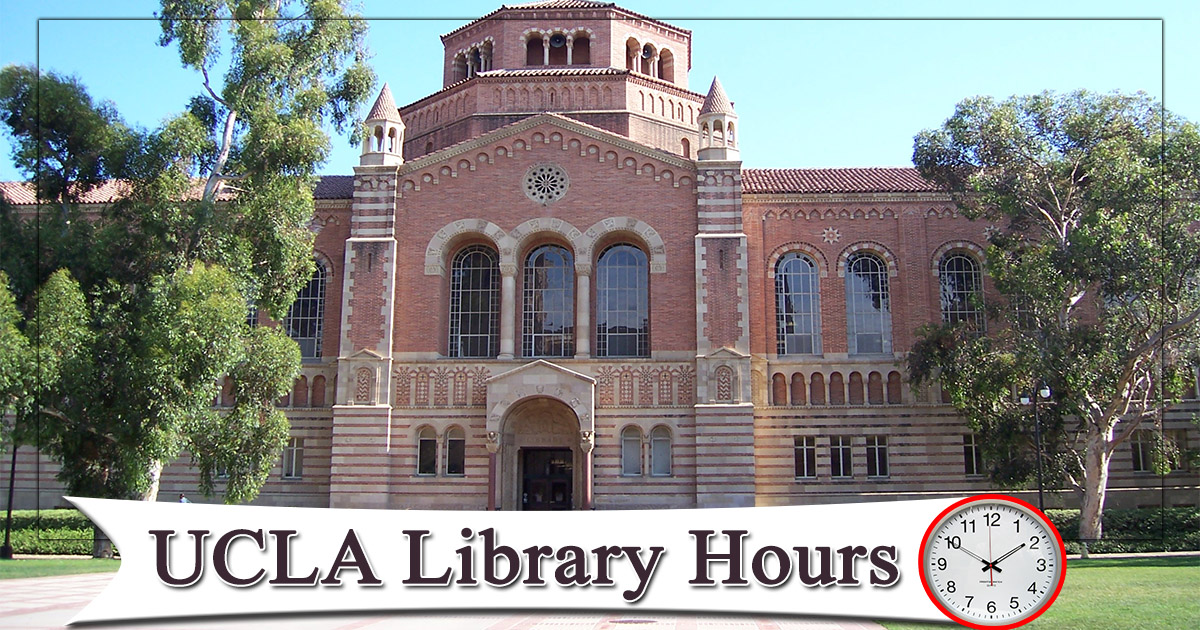 Ucla Library Hours