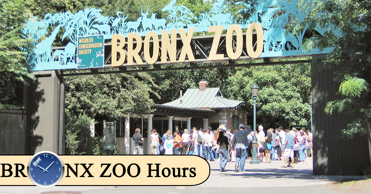 bronx zoo hours