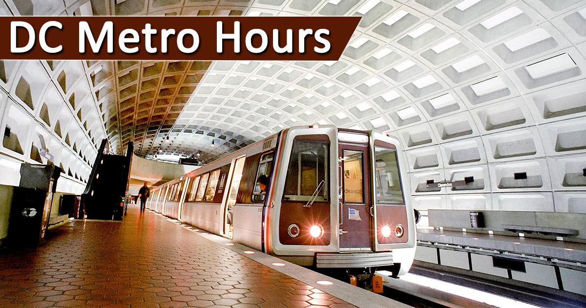 dc metro hours