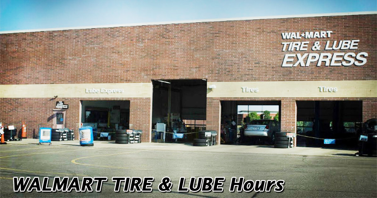 walmart tire and lube hours