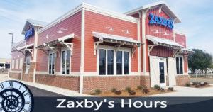 zaxbys hours