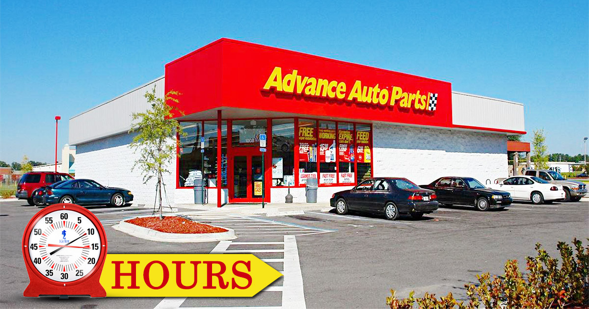 Advance Auto Parts Hours