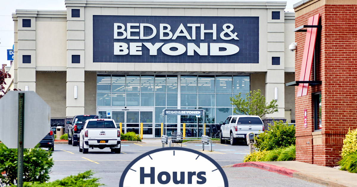 Bed Bath And Beyond Hours