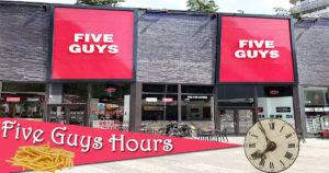 Five Guys Hours