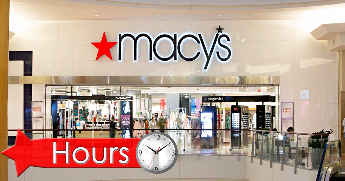 macys store hours on saturday