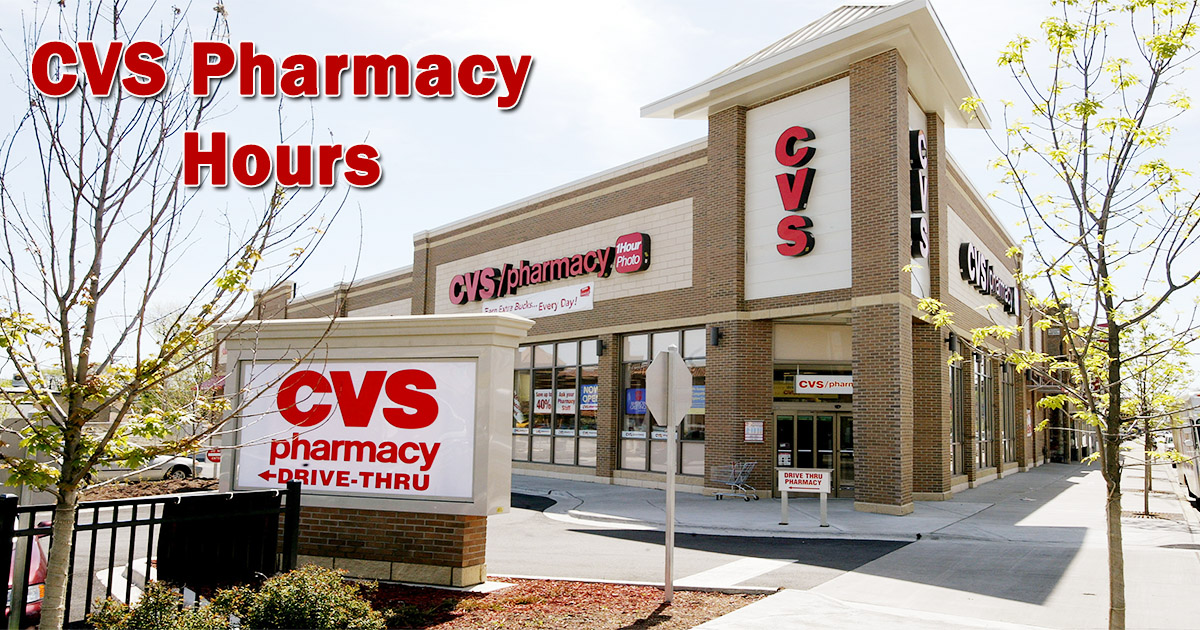 cvs pharmacy hours image