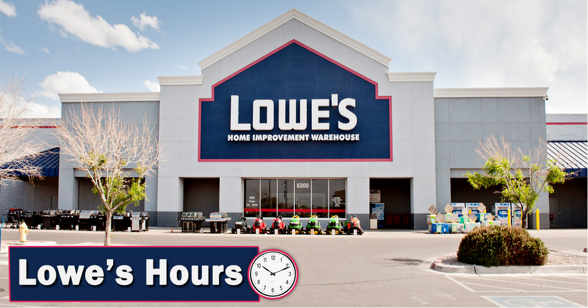 lowes hours image