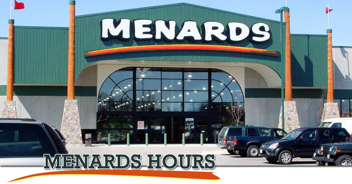 Menards Hours Image